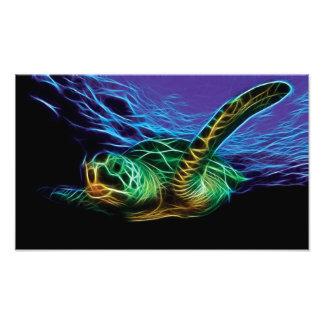 Fractal de la tortuga de mar cojinete
