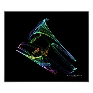 Fractal de la trompeta póster