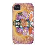 Fractal de Lakshmi de la lavanda Case-Mate iPhone 4 Carcasa