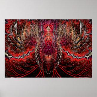 Fractal de levantamiento de Phoenix Póster