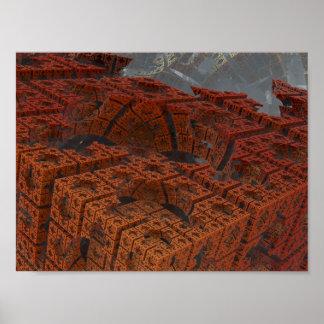 Fractal de los codos 3D Póster