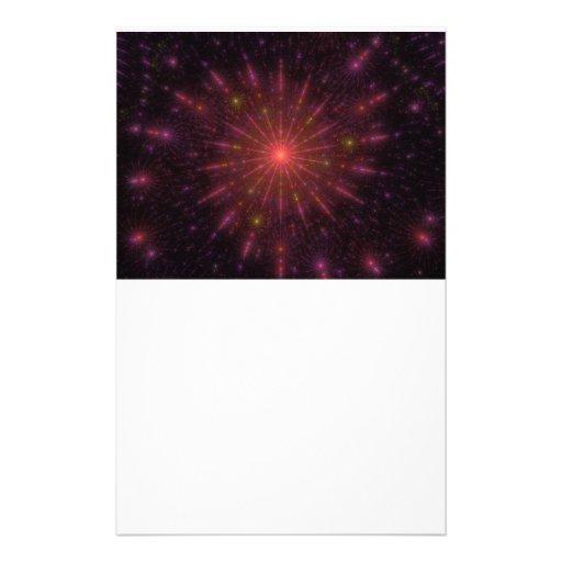 Fractal de los fuegos artificiales de las llamas q papeleria de diseño