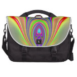 Fractal de los pescados de arco iris bolsas de portátil