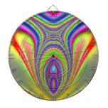 Fractal de los pescados de arco iris tabla dardos
