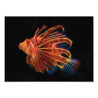 Fractal de los pescados del león fotografías