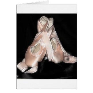 Fractal de los zapatos de ballet felicitación