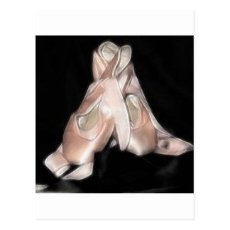 Fractal de los zapatos de ballet tarjeta postal