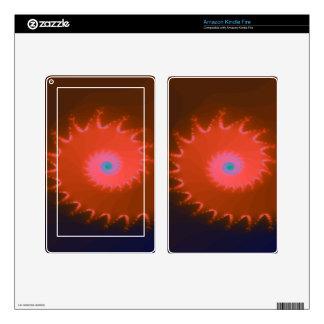 Fractal de lujo de Natalus del melocotón Skins Para Kindle Fire