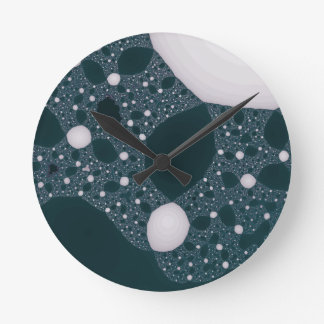 Fractal de mármol reloj redondo mediano