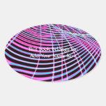 Fractal de neón fluorescente del Web Pegatina Ovalada