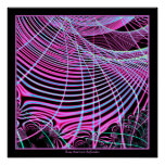 Fractal de neón fluorescente del Web Poster