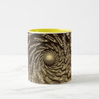 Fractal de oro #3 taza de dos tonos