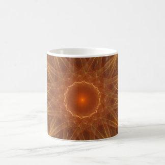 Fractal de oro de la gema taza clásica