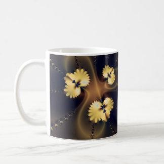 Fractal de oro de la hoja taza