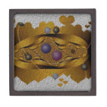 Fractal de oro rodeado de memoria caja de joyas de calidad