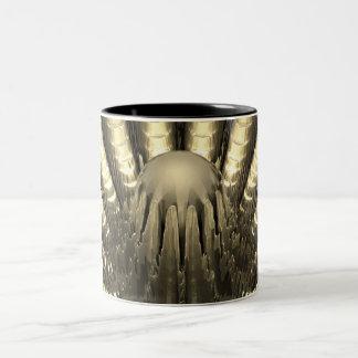 Fractal de oro taza de dos tonos