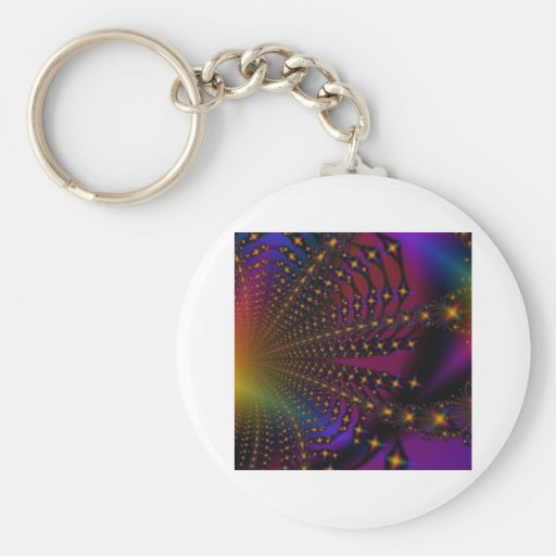 Fractal de Psyched del arco iris Llaveros
