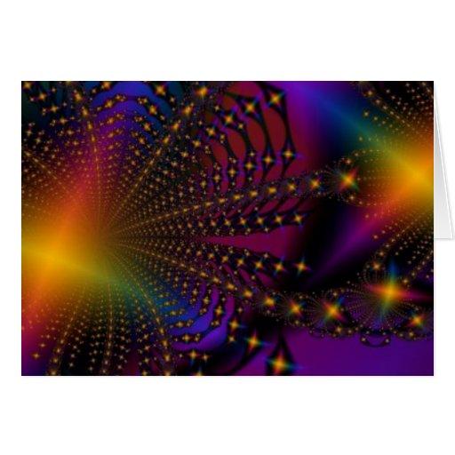 Fractal de Psyched del arco iris Tarjeta De Felicitación