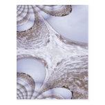 Fractal de un mar enojado postales