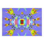 Fractal del acuario del Angelfish Invitación 8,9 X 12,7 Cm