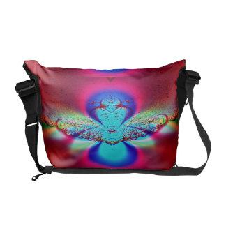 Fractal del ángel bolsas messenger