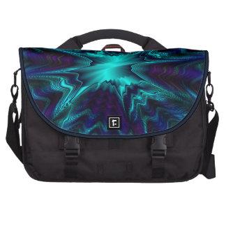 Fractal del azul de cobalto bolsas para ordenador