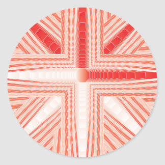 Fractal del bastón de caramelo pegatina redonda