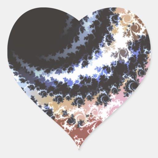 Fractal del calabozo pegatina en forma de corazón