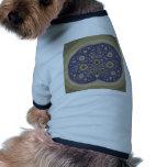 Fractal del cerebro camiseta de perro