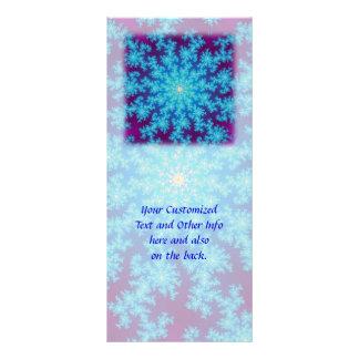 Fractal del copo de nieve: Aguamarina azul Lona Personalizada