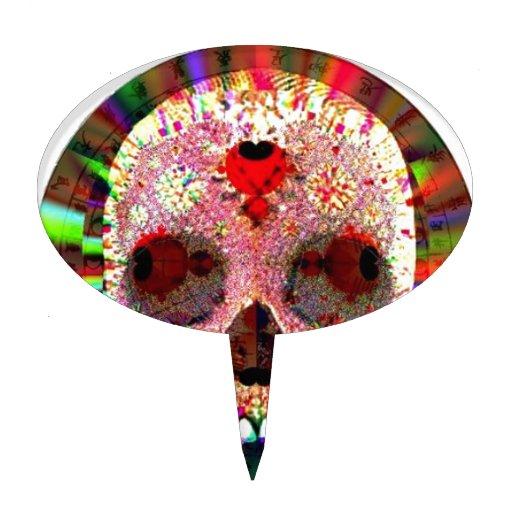 Fractal del cráneo decoraciones para tartas