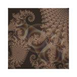 Fractal del efecto 3D del cordón del chocolate Impresion En Lona