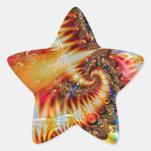 Fractal del espiral 813 de AFS Pegatina Forma De Estrella Personalizadas