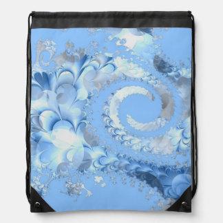 Fractal del espiral del azul de cielo mochilas