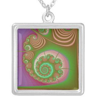 Fractal del espiral del Seashell del satén Grímpola