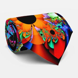 Fractal del estilo del girasol de doble cara corbata personalizada