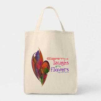 Fractal del flor del arco iris bolsa tela para la compra