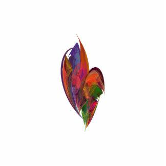 Fractal del flor del arco iris chapa fotoescultura