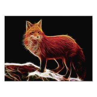 Fractal del Fox rojo Arte Fotográfico