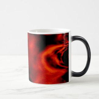 Fractal del fuego rojo taza mágica