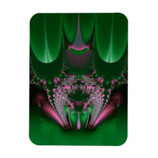 Fractal del gabinete de señora del satén y de las  rectangle magnet