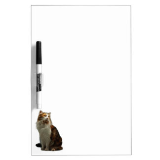 Fractal del gato de calicó pizarra blanca