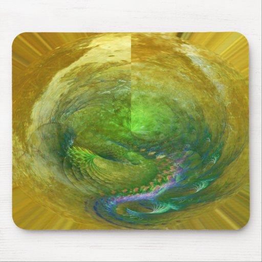Fractal del huevo del dragón tapete de ratones