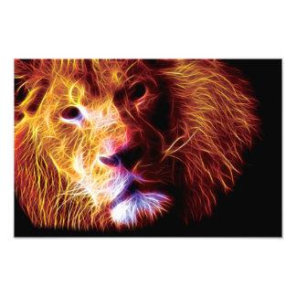 Fractal del león impresiones fotograficas