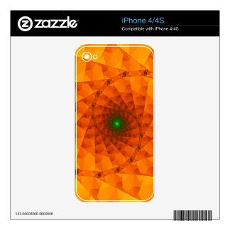Fractal del naranja de Geo Skins Para iPhone 4S