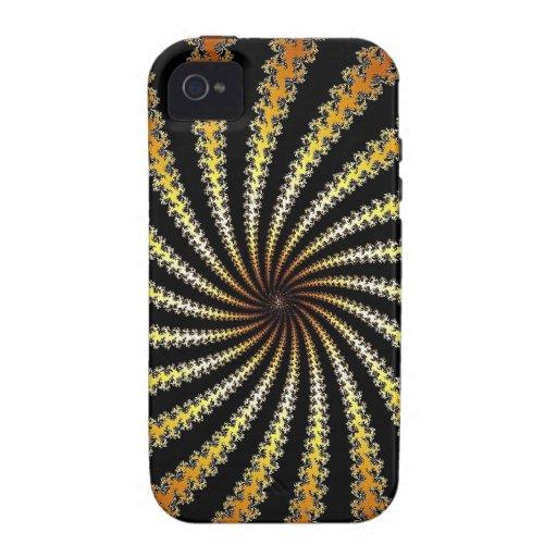 fractal del oro amarillo iPhone 4 fundas