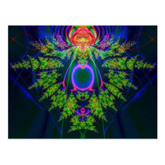 fractal del oro verde postales