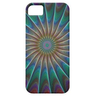 Fractal del pavo real iPhone 5 carcasas