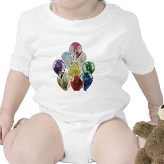 Fractal del ramo del globo trajes de bebé