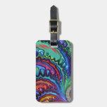 Fractal del remolino del arco iris etiquetas bolsa